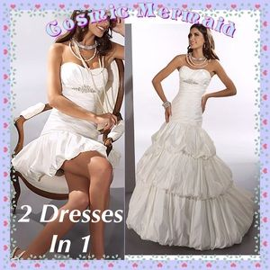 Dresses & Skirts - 🆕2 IN 1⭐️Couture Wedding Gown + Detachable Skirt